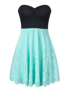 "We love the turquoise! Try ""hovring"" over this dress to find ones in the same colour! http://HOVR.IT"