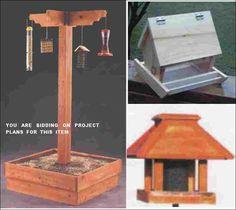 """""""Bird Feeder Station - PLANS"""","""