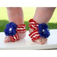 Toe Blooms Infant Girl Little Miss America