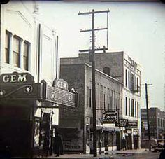 Historic photo of The Line - also known as 9th Street, Little Rock Arkansas
