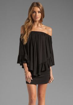 JAMES & JOY Haley Convertible Dress in Black at Revolve Clothing - Free Shipping!