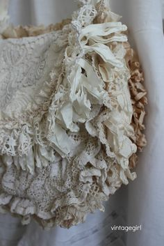 Vintage Girl lace purse side view