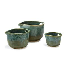 Look what I found at UncommonGoods: nesting stoneware mixing bowls - set of 3... for $140 #uncommongoods