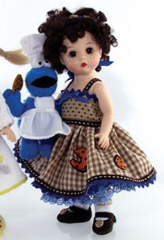 Madame Alexander Doll 2006 ~ Wendy and Cookie Monster ~ C is For Cookie