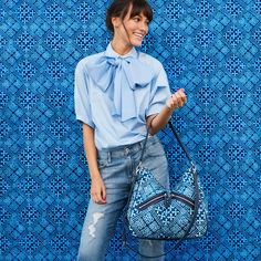 Cuban Tiles Pairs Perfectly With Your Favorite Pair Of Jeans So Go Ahead Wear All Blue Or Even A Little Denim On