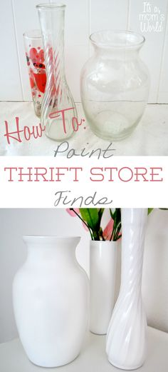 How To Paint Thrift Store/Garage Sale Finds { From Drab To Fab }.  Using one paint, and a few minutes! Super easy!