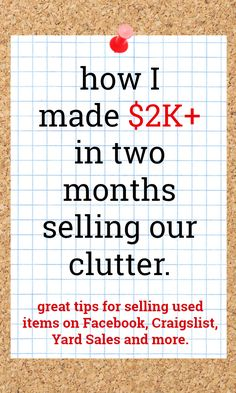 How to Sell Your Stuff Online - tips and tricks for selling unwanted items online Online Garage Sale, Garage Sale Pricing, Garage Sale Tips, Yard Sale Signs, For Sale Sign, Ebay Selling Tips, Selling Online, Extra Cash, Extra Money