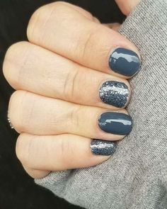 Jen Bayreuther 2 days ago Moon River and Steel City Color Street nails.
