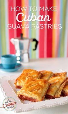 My Big Fat Cuban Family - How to make Cuban Guava Pastries Pastry Recipes, Cupcake Recipes, Dessert Recipes, Cooking Recipes, Guava Recipes, Cuban Recipes, Boricua Recipes, Plats Latinos, Havanna Party