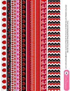 Free Printable Valentine Washi Tapes
