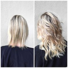 "Extensions"" hair extensions, hair transformation, blonde hair, before and. Extensions Blondes, Blonde Extensions, Hair Extensions For Short Hair, Tape Extensions, Blonde Hair Extensions Before And After, Hair Tape, Super Hair, Curled Hairstyles, Braided Hairstyle"