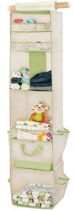 Munchkin 6 Shelf Closet Organizer - Cream/Green
