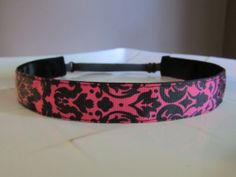 Damask Non-slip Adjustable Slip-not Headband.  Love these!  They don't slide out and they don't give you a headache!