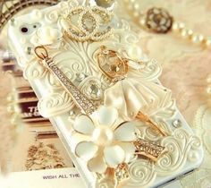 Free Shipping - iPhone5C Case , iPhone 4 Case , iPhone 4s Case , iPhone5 Case, 3D Bling Bling Ballerina Eiffel Tower Handmade Case Cover on Etsy, $22.65 AUD