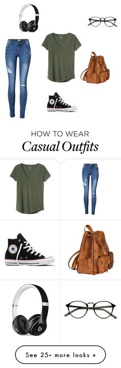 """""""Casual any day"""" by compass-lily on Polyvore featuring Gap, Converse, Yves Saint Laurent and Beats by Dr. Dre"""