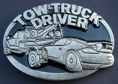 Tow Truck Vehicle Operator Towing Mens Cool Belt Buckle Belts Buckles