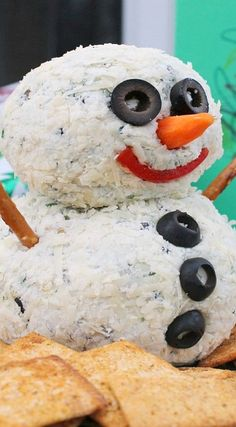 Snowman Blue Cheese Ball