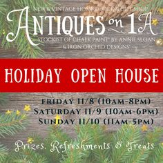Friday through Sunday Open House, Sunday, Antiques, Holiday, Decor, Domingo, Decorating, Vacation, Antiquities