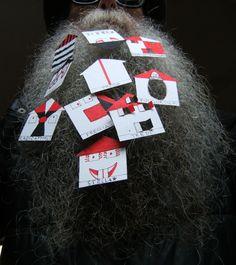 BEARD GALLERY - Opere di Nicola Architecture Meacci installate sulla mia barba (Galleria Pensile)