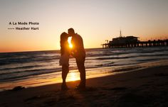 Beach Engagement Photo Session by Heather Hart of A la Mode Photo, Santa Monica California For more examples of my work, see www.alamodephoto.com