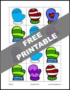 prekpages: visuaL DISCRIMINATIONMitten Same or Different Printable for Preschool