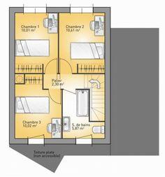 Plan Maison Neuve à Construire   Maisons France Confort Eco Concept 88 G