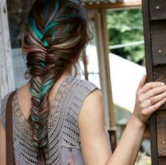 #fishtail #blue #highlights