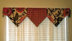 Super cute window valences made out of @HGTV fabric by @Tina Doshi Sanders :)