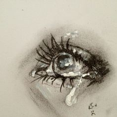 Crying eye... want something like this, with cracks/shatters and sunbeams streaming down on it...