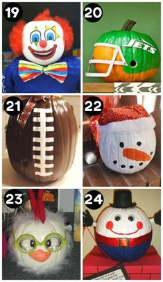 Clever and Creative Pumpkins for Halloween A huge collection of the BEST creative pumpkin decorating ideas for Halloween! Including 60 creative pumpkin carving ideas AND 90 no-carve pumpkin ideas. Cool Pumpkin Designs, Halloween Pumpkin Designs, Halloween Pumpkins, Spooky Halloween, Fairy Halloween Costumes, Halloween Crafts, Halloween Decorations, Halloween Ideas, Halloween Labels