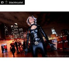 """#Repost @blackkrystel in HERO HAIR's infamous """"Tempest: Part 3"""" custom cosplay wig  - Find us on the web @ www.herohair.com - Tbt: to the Cosplay Cruise after #nycc - Cosplay: @blackkrystel Wig: @officialherohair Photo: @rongejon - - An Official @ComicToons Babe  #nerdydozen - - #storm #xmen #marvel #marvelcomics #comics #comicbooks #magnito #wolverine #hallieberry #marveluniverse #netflix #NYCC2015 #newyork #nyc #orderwig #cosplay #cosplaywig #customwig #wig #spidergwen #starwars #orderwig…"""