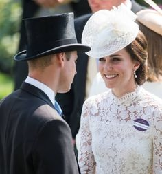 Catherine Duchess of Cambridge and Prince William Duke of Cambridge attend Royal Ascot 2017 at Ascot Racecourse on June 20 2017 in Ascot England