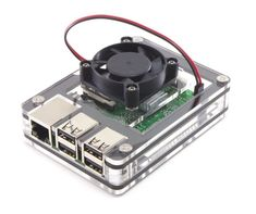 Zebra Fan Top Upgrade for Raspberry Pi 3, Pi 2, and Pi B by C4Labs