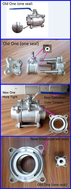New Stainless Steel 3 Piece Ball Valve With Two Seas More tight,lower torque and easier to operate. (export@valve-yz.com)----Vittoria