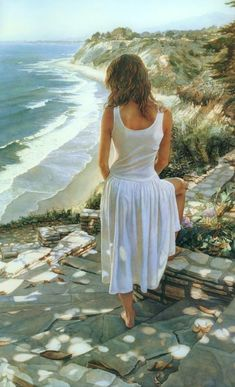 Steve Hanks is recognized as one of the best watercolor artists working today. The detail, color and realism of Steve Hanks' paintings are unheard of in this difficult medium. A softly worn patterned quilt, the play of light on the thin veil of surf on sand, or the delicate expression of a child. Steve Hanks captures these patterns of life better than anyone.