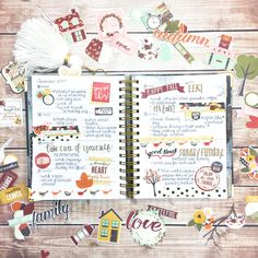 Fall Weekly Planning created using Vintage Blessings Collection Simple Stories. Mini Happy Planner, Cute Planner, Planner Ideas, Planner Diy, Types Of Planners, Day Planners, Simple Stories Snap, Bullet Journal Ideas Pages, Bullet Journals