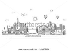 Find London Detailed Skyline Travel Tourism Background stock images in HD and millions of other royalty-free stock photos, illustrations and vectors in the Shutterstock collection. London Sketch, London Skyline, London City, City Vector, Line Illustration, Silhouette Vector, Travel And Tourism, Vector Background, Line Art