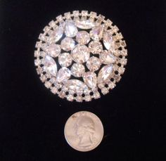 D&E Delizza  Elster Vintage Clear Rhinestone Large by caferetro, $35.00