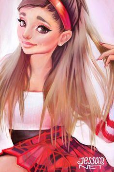 Ariana Grande fan art. #arianagrande #fanart #arianafanart #illustration #cute