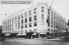 Polsky's Department Store. Akron, Ohio. One of 2 main downtown department stores.