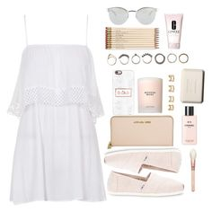 """Muy chic"" by nohely3-04 on Polyvore featuring Belleza, Topshop, Michael Kors, TOMS, Chanel, Casetify, Estée Lauder, Maison Margiela, Iosselliani y Kate Spade"