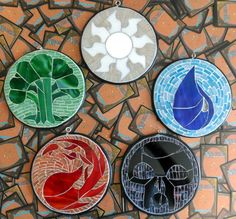 Magic the Gathering White mana symbol stained glass by VitriGeek