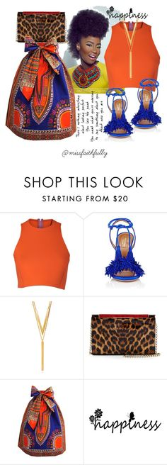 """""""It flows in my blood!"""" by missfaithfully ❤ liked on Polyvore featuring Sydney-Davies, Aquazzura, BERRICLE, Christian Louboutin, me and African"""