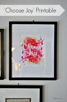 Choose Joy Printable via HashtagBlessedBlog.com
