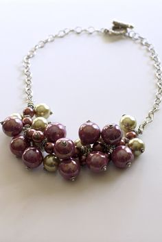 Southern Scraps : Glass bead bauble necklace