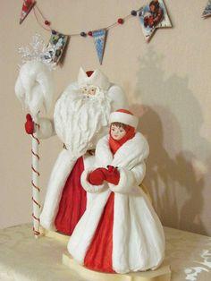 Дорогие Друзья! Приглашаю Вас на Мастер-класс по большому ватному Деду Морозу. Создадим игрушки, которые станут талисманами ваших семей, будут передаваться из поколения в поколение и много лет радовать Вас и ваших детей, внуков, как радуют нас игрушки наших родителей, и бабушек-дедушек. Ватная игрушка обладает непередаваемой энергетикой, и я приглашаю Вас прикоснуться к этому волшебству. Angel Ornaments, Christmas Tree Ornaments, Victorian Christmas, Vintage Christmas, Russian Santa, Ded Moroz, Paper Flowers Diy, Barbie And Ken, Doll Crafts