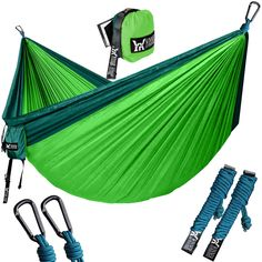 Camping Hammock With Tree Straps Portable Parachute Nylon Hammocks for Outdoor Best Camping Hammock, Backpacking Hammock, Best Camping Meals, Camping And Hiking, Camping Hacks, Beach Camping, Camping Friends, Camping Recipes, Tent Camping