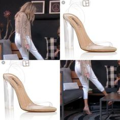a4ac92e3ec45 Dorit Kemsley's Clear Heeled Sandals with Eileen and Lisa Rinna Season 7  Episode 4 Real Housewives of Beverly Hills Fashion