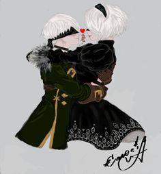 Beautiful love of 9S and 2B by Emocia.deviantart.com on @DeviantArt