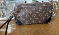 Louis Vuitton Pochette wristlet on Mercari Louis Vuitton Clutch, Louis Vuitton Monogram, Dragon, D1, Cross Body Handbags, Passport, Satchel, Shoulder Bag, Wallet